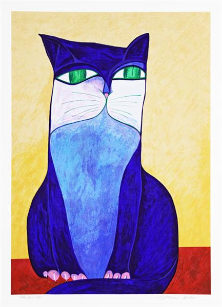 Blue Cat by Aldemir Martins