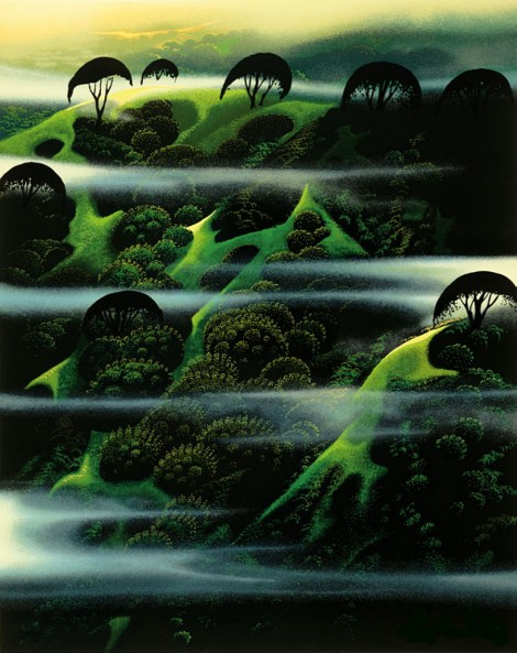 Early Morning Fog by Eyvind Earle