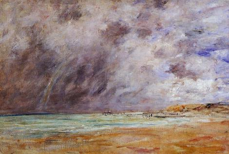 Le Havre, Stormy Skies over the Estuary. by Eugene Boudin