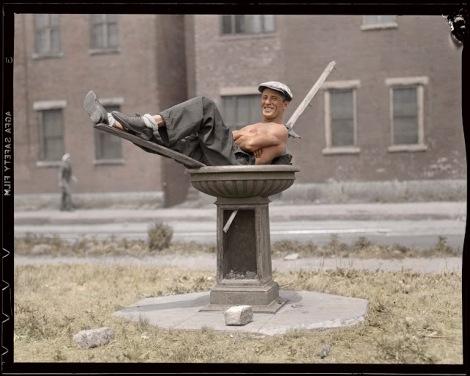 birdbath man