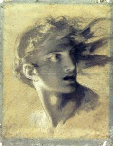 Head of divine vengeance by Pierre-Paul Prud'hon