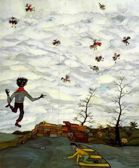 Landscape with Birds by Lucian Freud