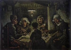 The Potato Eaters by Vincent van Gogh.