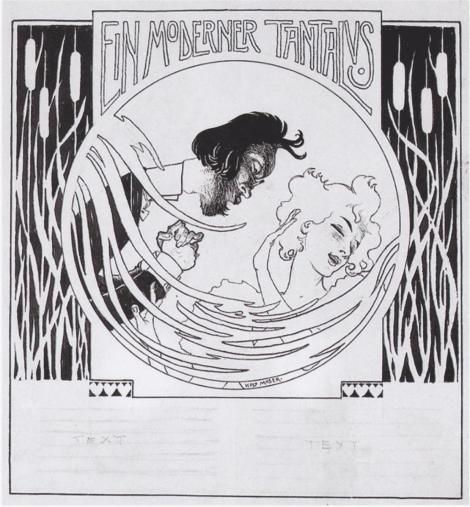 A modern Tantalus. Illustration for 'Meggendorfer leaves' by  Koloman Moser