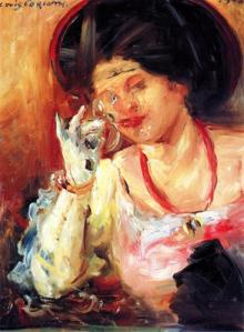 Woman with a glass of wine, by Lovis Corinth