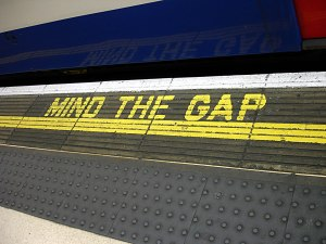 """Mind the Gap"", Waterloo station"