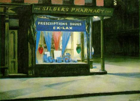 Drug-store by Edward Hopper