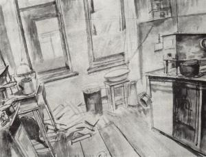 Kitchen by Kuzma Petrov-Vodkin