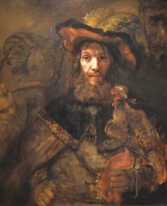The Knight with a falcon by Rembrandt