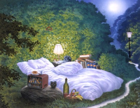 The Moonlight Bed by Jacek Yerka