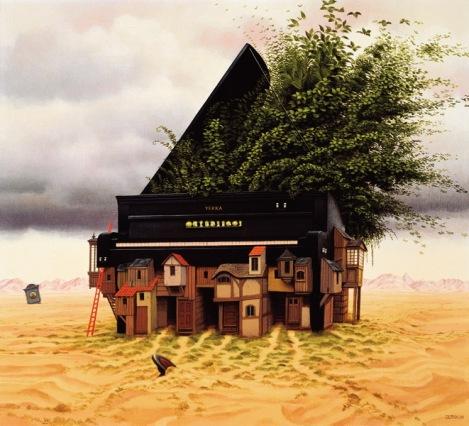 Piano by  Jacek Yerka