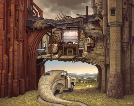 Stone and brick by Jacek Yerka
