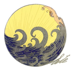 The wave by Erte