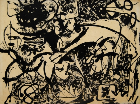 Jackson Pollock, No 8 Black Flowing