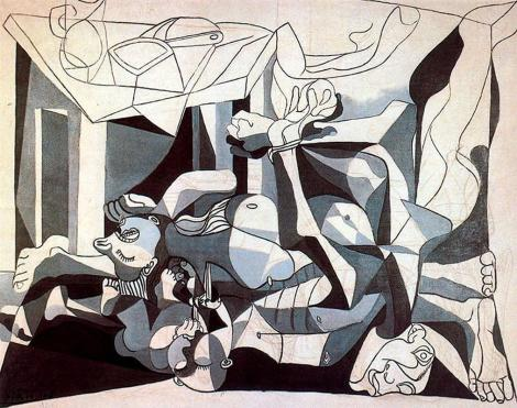 The mass grave by Pablo Picasso