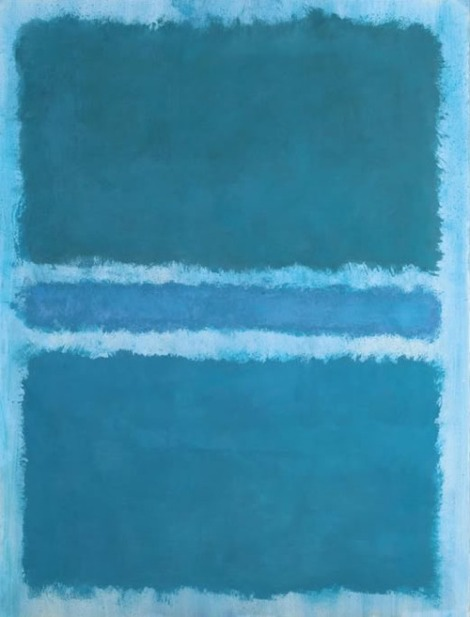 Untitled (Blue Divided by Blue) by Mark Rothko
