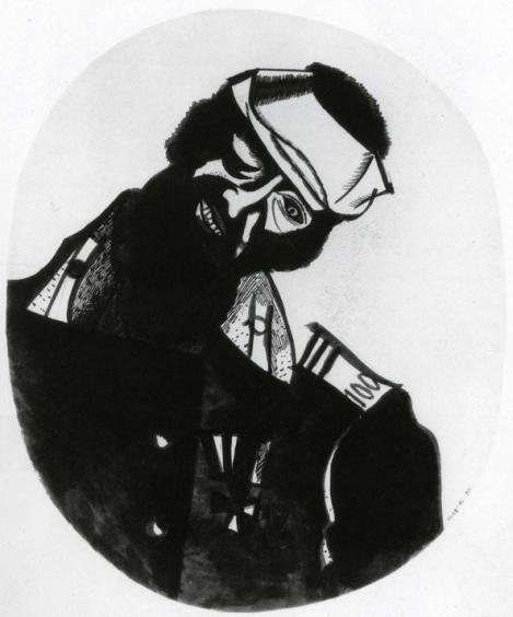 Wounded soldier by Marc Chagal