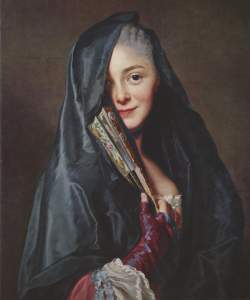 Woman with veil by Alexander Roslin