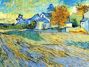View of the Church of Saint-Paul-de-Mausole by Vincent van Gogh