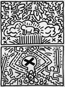 Anti Nuclear Rally by Keith Harring