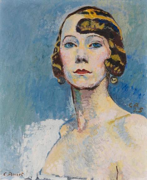 Brustbild einer Dame by Cuno Amiet
