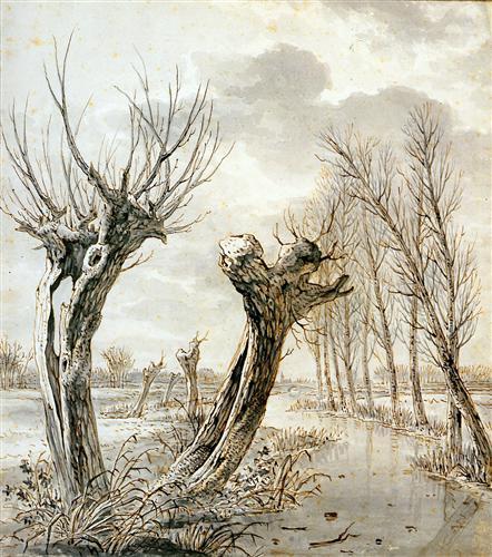 Landscape in winter Jacob van Strij