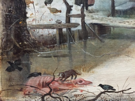 Detail from a Winter Landscape with Ice Skaters, Hendrick Avercamp