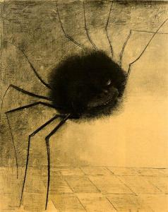 The smiling spider by Odilon Redon