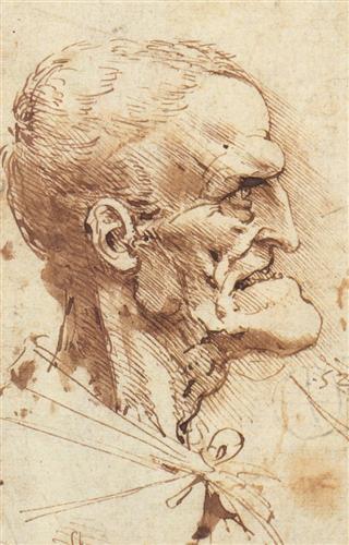 Grotesque Profile by Leonardo da Vinci