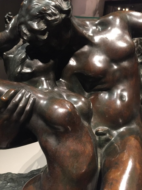 Detail of sculpture by Rodin