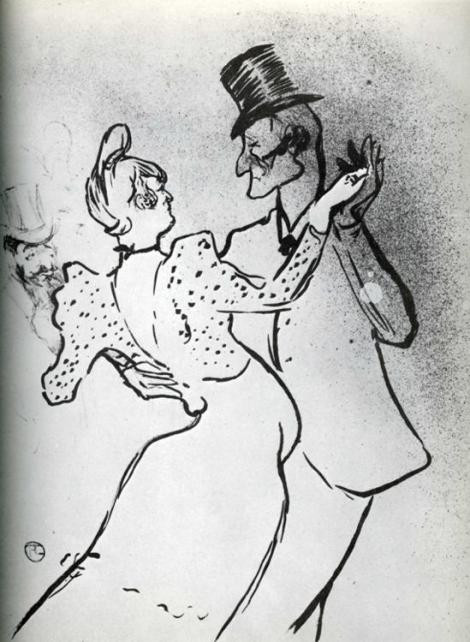 La Goulue and Valentin, Waltz by Henri de Toulouse-Lautrec