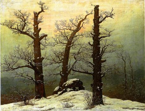 Passage grave in the snow by Caspar David Friedrich