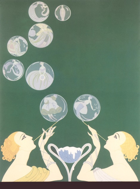 The bubbles by Erte