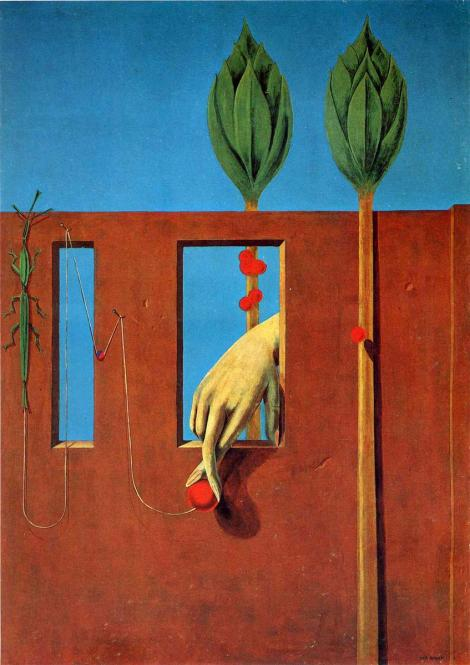 At the first clear word, Max Ernst