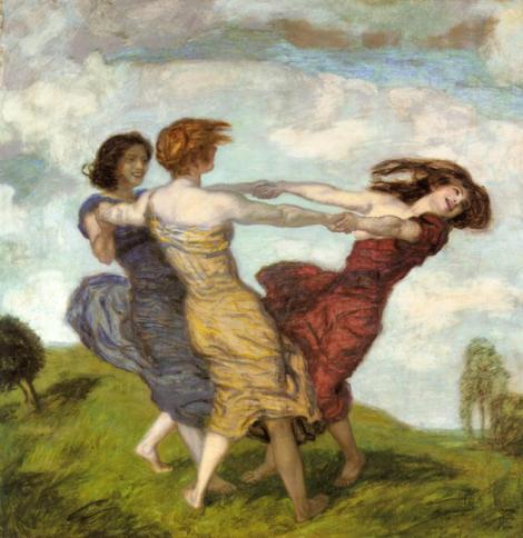 Sounds of Spring by Franz Stuck