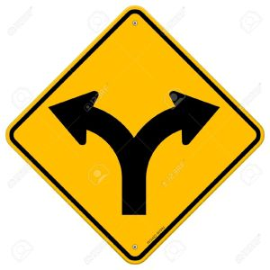 13584586-Fork-in-Road-Sign-Stock-Vector-crossroads