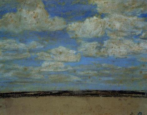 Fine weather on the estuary by Eugène Boudin
