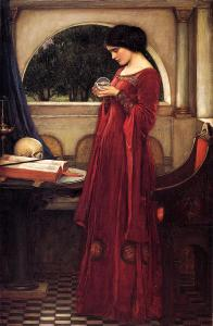 The Crystal Ball by John William Waterhouse.