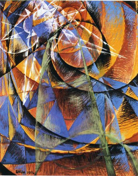 Planet Mercury Passing in Front of the sun by Giacomo Balla