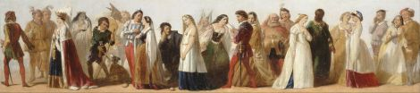 Procession of Characters from Shakespeare plays (unknown artist)