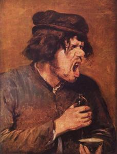 The biter drunk by Adriaen Brouwer