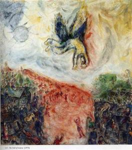 The fall of Icarus by Marc Chagal