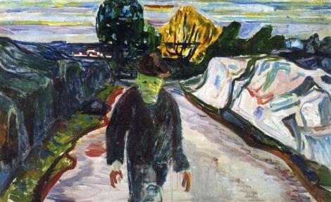 The murderer by Edward Munch