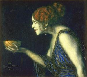 Tilla Durieux As Circe by Franz Stuck