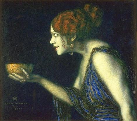 Tilla Durieux As Circe by Franz Stuck
