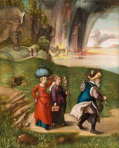 Albrecht Dürer - Lot and his daughters