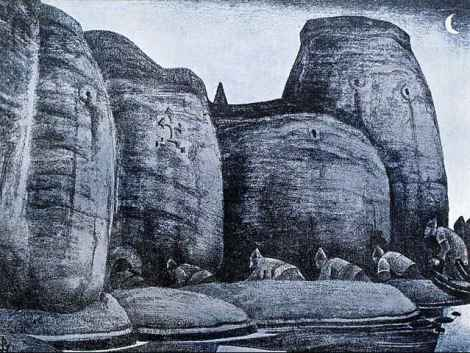 Crypt by Nicholas Roerich