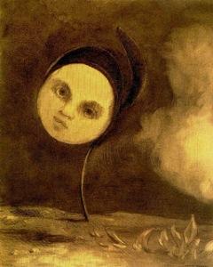 Head on a stem by Odilon Redon