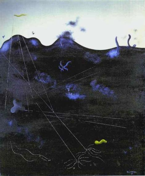 Blue Bed © Yves Tanguy
