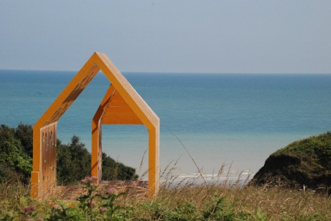 This is not an outhouse but a piece of art in Normandy